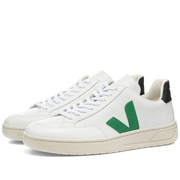 Veja V-12 Leather Sneaker White \u0026 Green