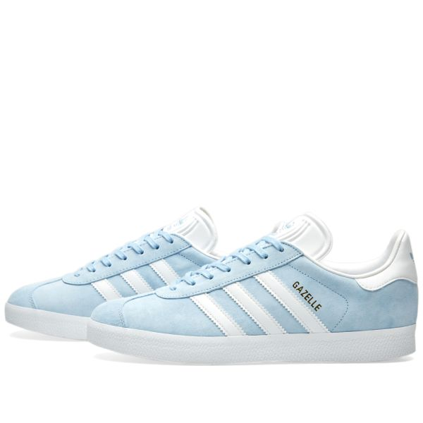 adidas gazelle clear sky white