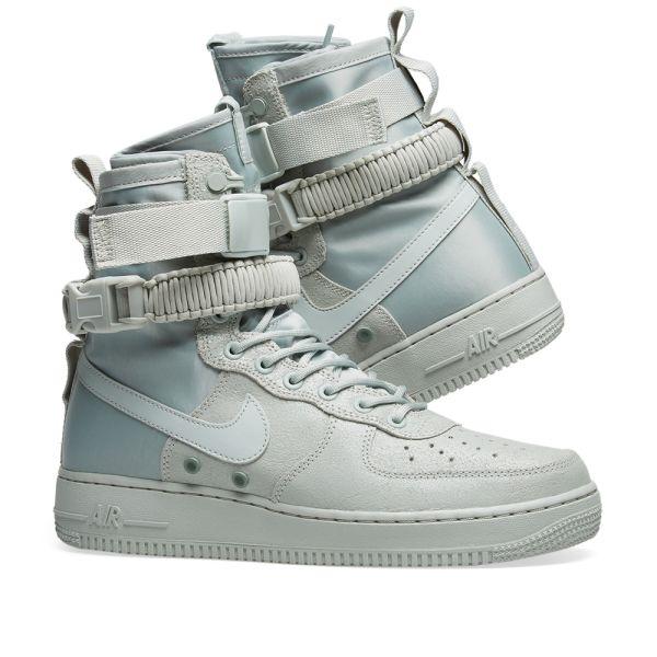 Nike Air Force 1 SF W Silver, Mica Green & Grey | END.