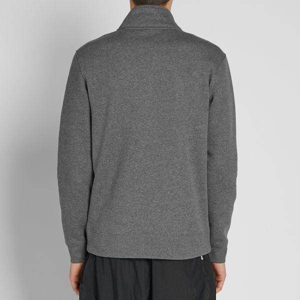 NIKE Sportswear Club Hoodie Half Zip charcoal heather