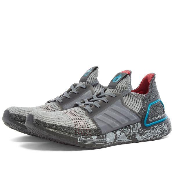 dosis tal vez pereza  Adidas x Star Wars Ultraboost 19 Grey & Bright Cyan | END.