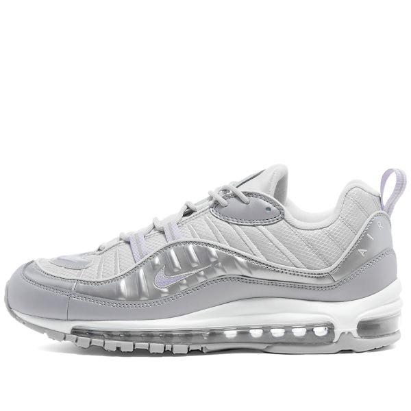 Estar satisfecho judío Desobediencia  Nike Air Max 98 SE W Grey, Purple, Platinum & White | END.