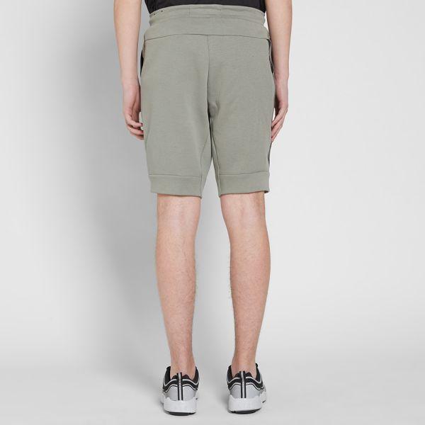 Nike Tech Fleece Short Dark Stucco Heather Black End
