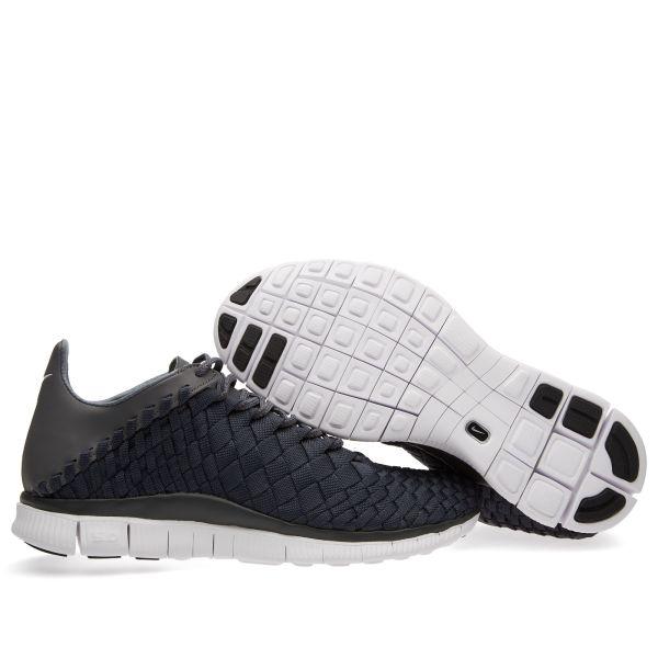 Nike Free Inneva Running Shoe Woven Black Sail 8.5