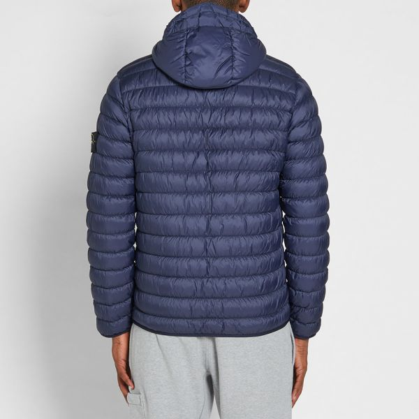 reasonable price closer at best wholesaler Stone Island Garment Dyed Micro Yarn Hooded Down Jacket Marine | END.