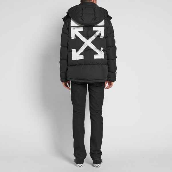 Off-White Diagonals Brushed Down Jacket