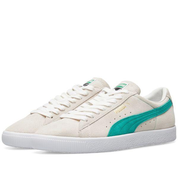 Puma Suede OG Premium White \u0026 Green   END.