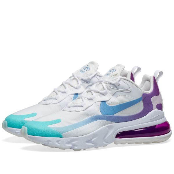 Nike Air Max 270 React W White Blue Green Purple End