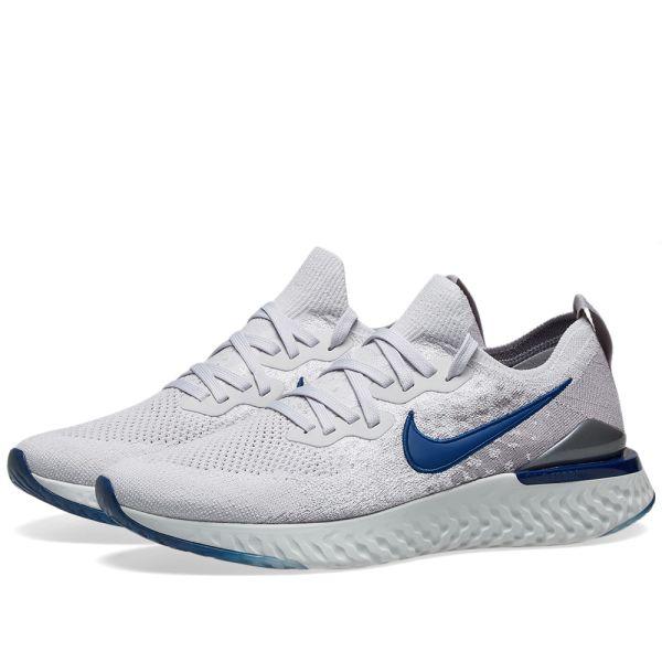 Nike Epic React Nike Epic React Flyknit 2 Vast Grey, Blue & Atmosphere | END.