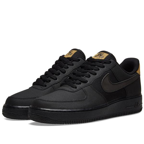 Trova > black and gold nike air force 1 |