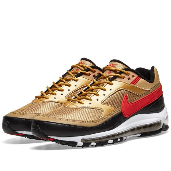 nike air max gold and red