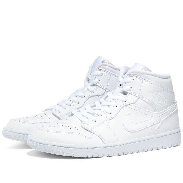 Air Jordan 1 Mid White End