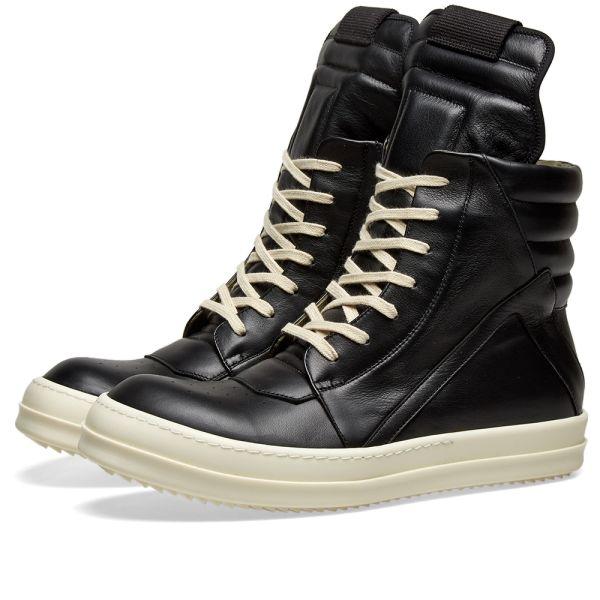 Rick Owens Geobasket Sneaker Black | END.