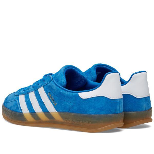 Mareo Sinis portátil  Adidas Gazelle Indoor Bluebird, White & Gum   END.