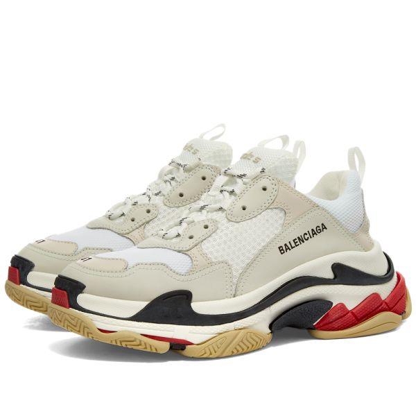Balenciaga Triple S Sneaker White, Red