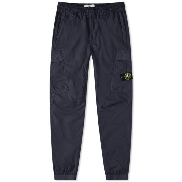 Genuine Stone Island Jogging Pants Black Side Pocket Badge