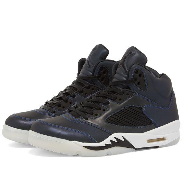 Air Jordan 5 W Oil Grey, Black \u0026 White