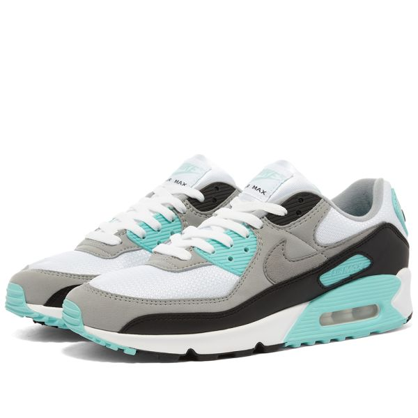 Nike Air Max 90 White Grey Turquoise End