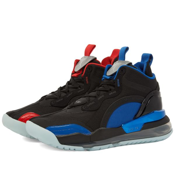 Conflicto callejón Nacional  Paris Saint-Germain x Air Jordan Aerospace 720 Black, Reflect Silver & Red  | END.