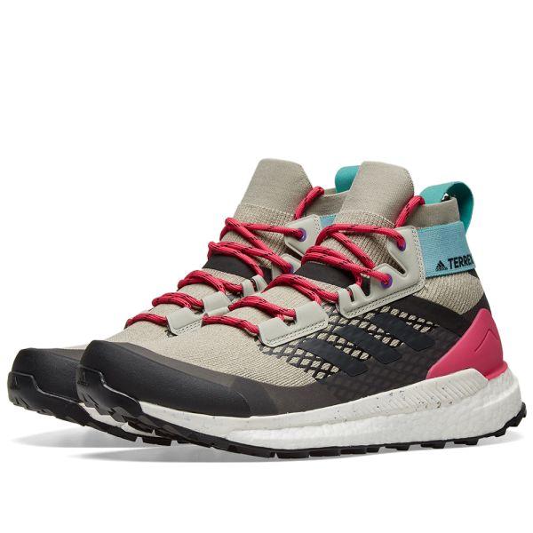 adidas Terrex Damen Terrex Free Hiker Schuhe carbon UK 4.5