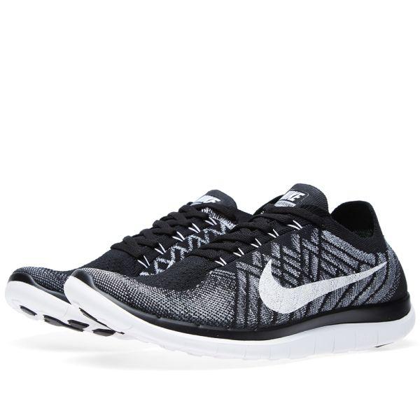 nike free 4.0 v2 Nike Free Flyknit 4.0 v2 Black, White & Wolf Grey | END.