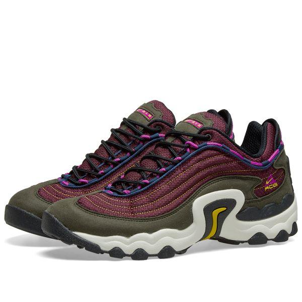 Nuevos objetos venta al por mayor venta en línea Nike ACG Air Skarn Sequoia, Purple & Crimson | END.