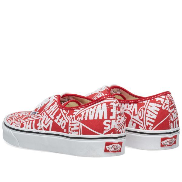 Wall Printed Authentic OTW Repeat Red