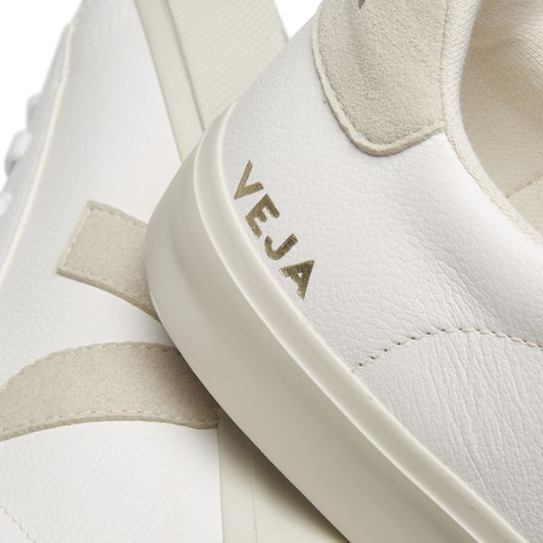 Veja Campo Chromefree Leather Sneakers White Natural