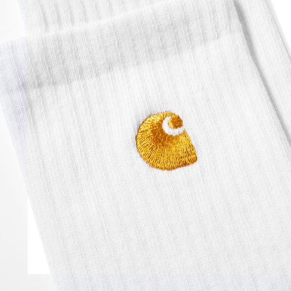 Carhartt Chase Crew Socks Brand New White in Size UK 6-11