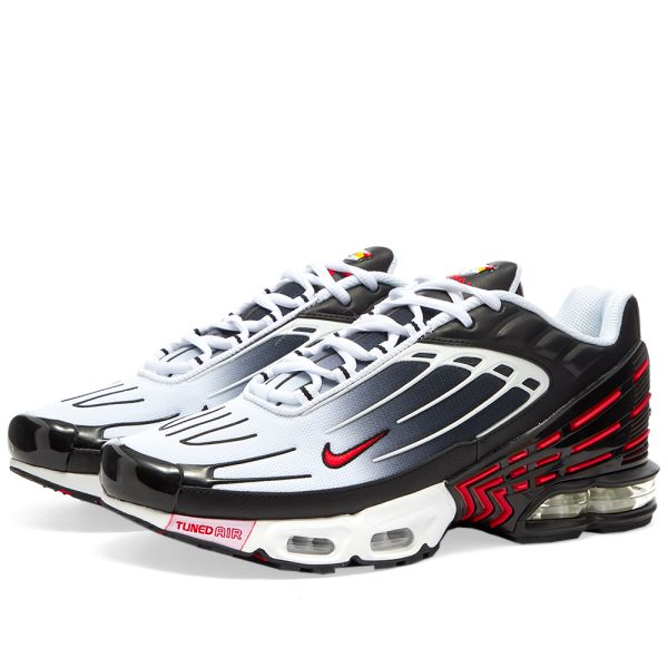 nike air max plus black white red