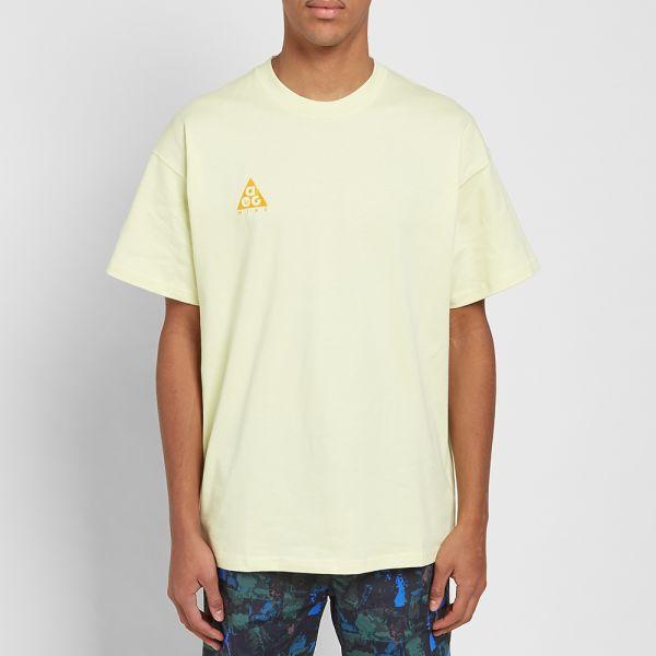 Nike ACG Logo T Shirt Luminous Green BQ7342 335 | 5Pointz