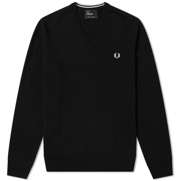 FRED PERRY Classic V-Neck Pullover black K4500-102