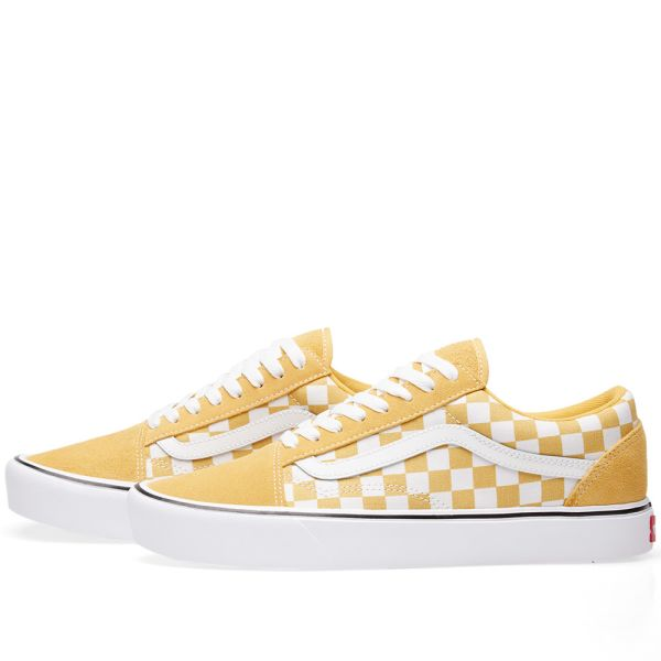 yellow checkered vans old skool