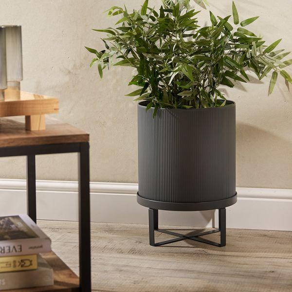Ferm Living Bau Large Plant Pot Dark