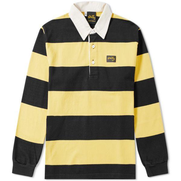 Stan Ray Striped Rugby Shirt Black