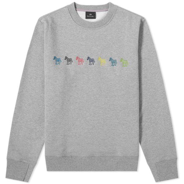 Paul Smith Grey Loopback Cotton Sweatshirt