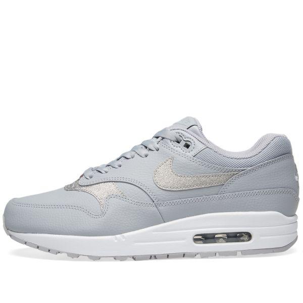 Nike Trainers Womens Wolf Grey Pure Platinum White Glitter