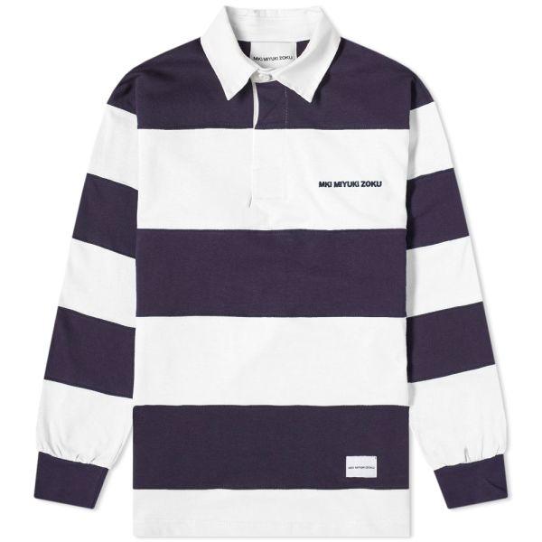Staple Men Finish Stripe Woven Short Sleeve Shirt navy