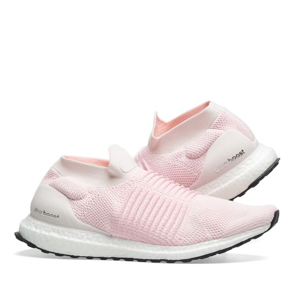 adidas Ultra Boost Laceless Pink, White | BB6136