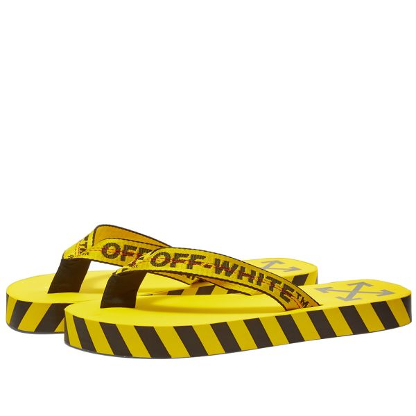 Off-White Flip Flops Yellow   END.