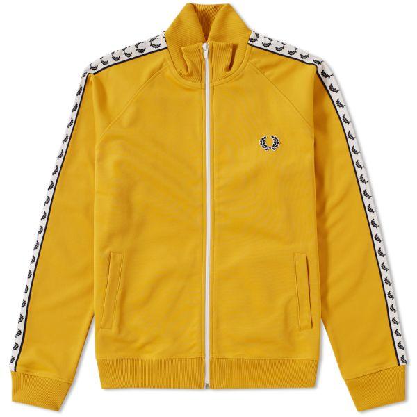 pålitlig kvalitet köp billigt nya specialerbjudanden Fred Perry Laurel Taped Track Jacket Gold   END.