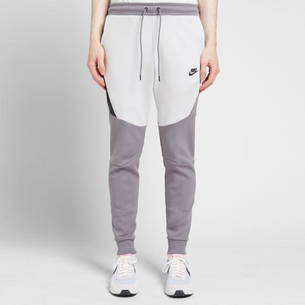 nike tech fleece pants grey white \u003e Up