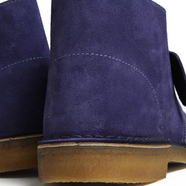 Classic Clarks Desert Boot Navy Canvas 6 : Clarks Shoes