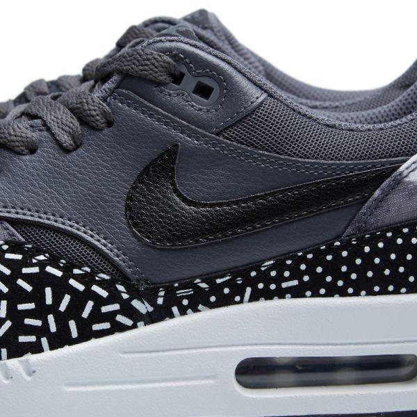 Nike Air Max 1 Print Black, White & Fireberry   END.
