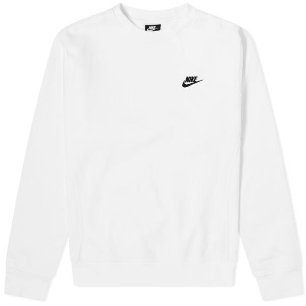 cosecha Sinfonía Magistrado  Nike Club Crew Sweat White & Black   END.