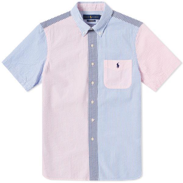 Polo Ralph Lauren Short Sleeve Seersucker Button Down Shirt White