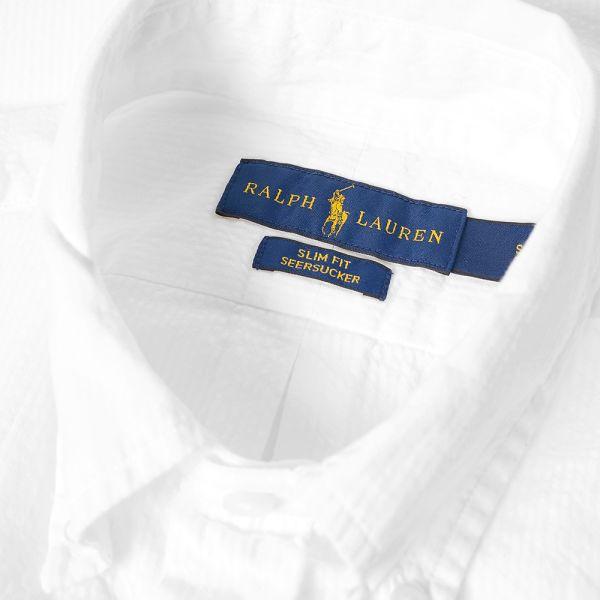 Polo Ralph Lauren Short Sleeve Seersucker Shirt White End