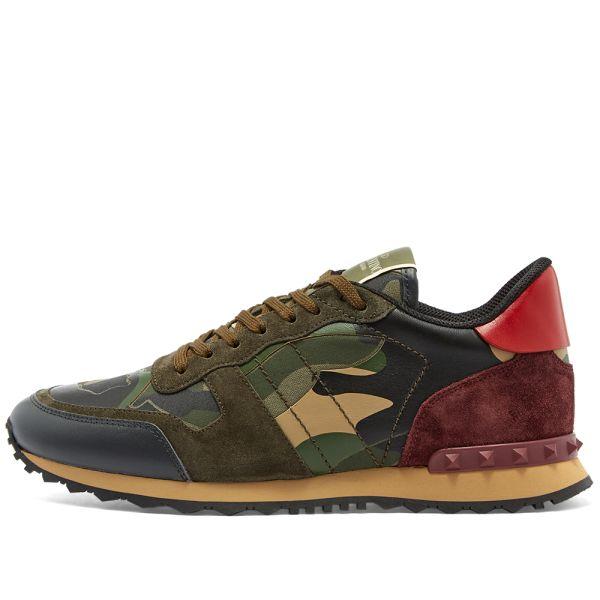 Valentino Rockrunner Camo Sneaker Green