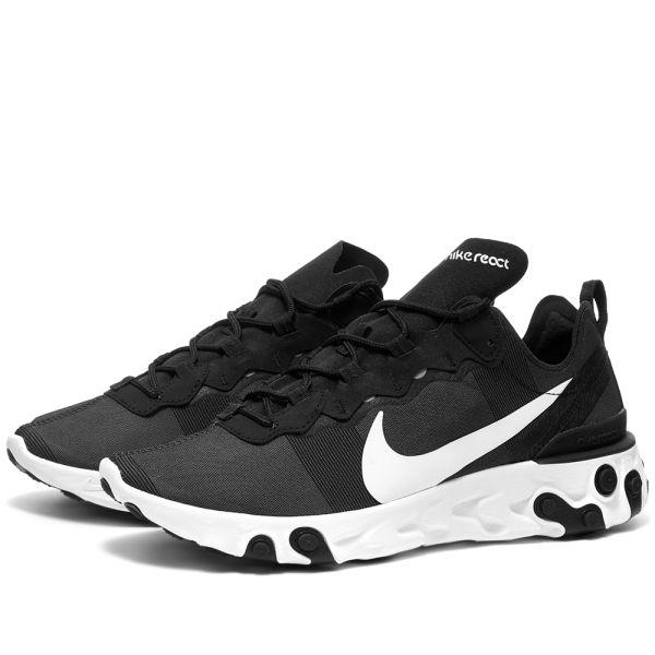 Nike React Element 55 Black \u0026 White | END.