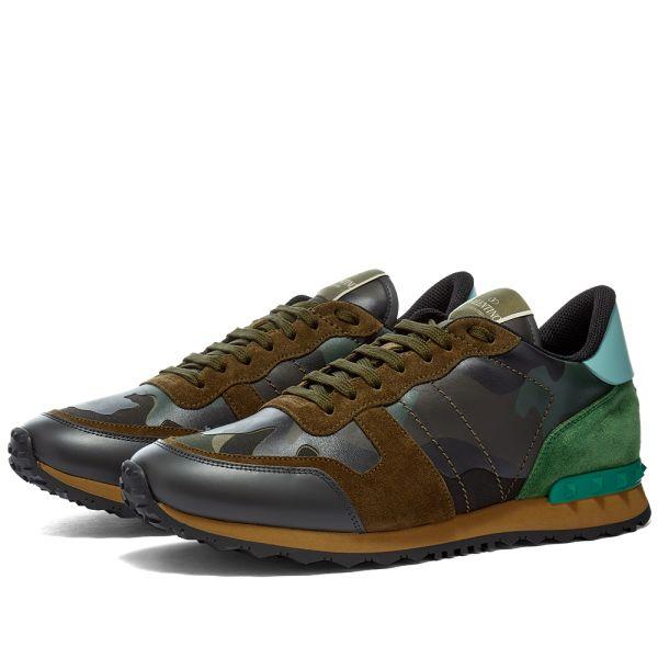Valentino Rockrunner Sneaker Army Green